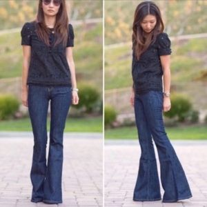 NWT-Chic Glam High Rise Dramatic Flare/Bell Jeans